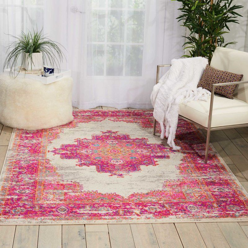 Dorset Ivory/Fuchsia Indoor Area Rug | Bedroom inspo, Living rooms ...