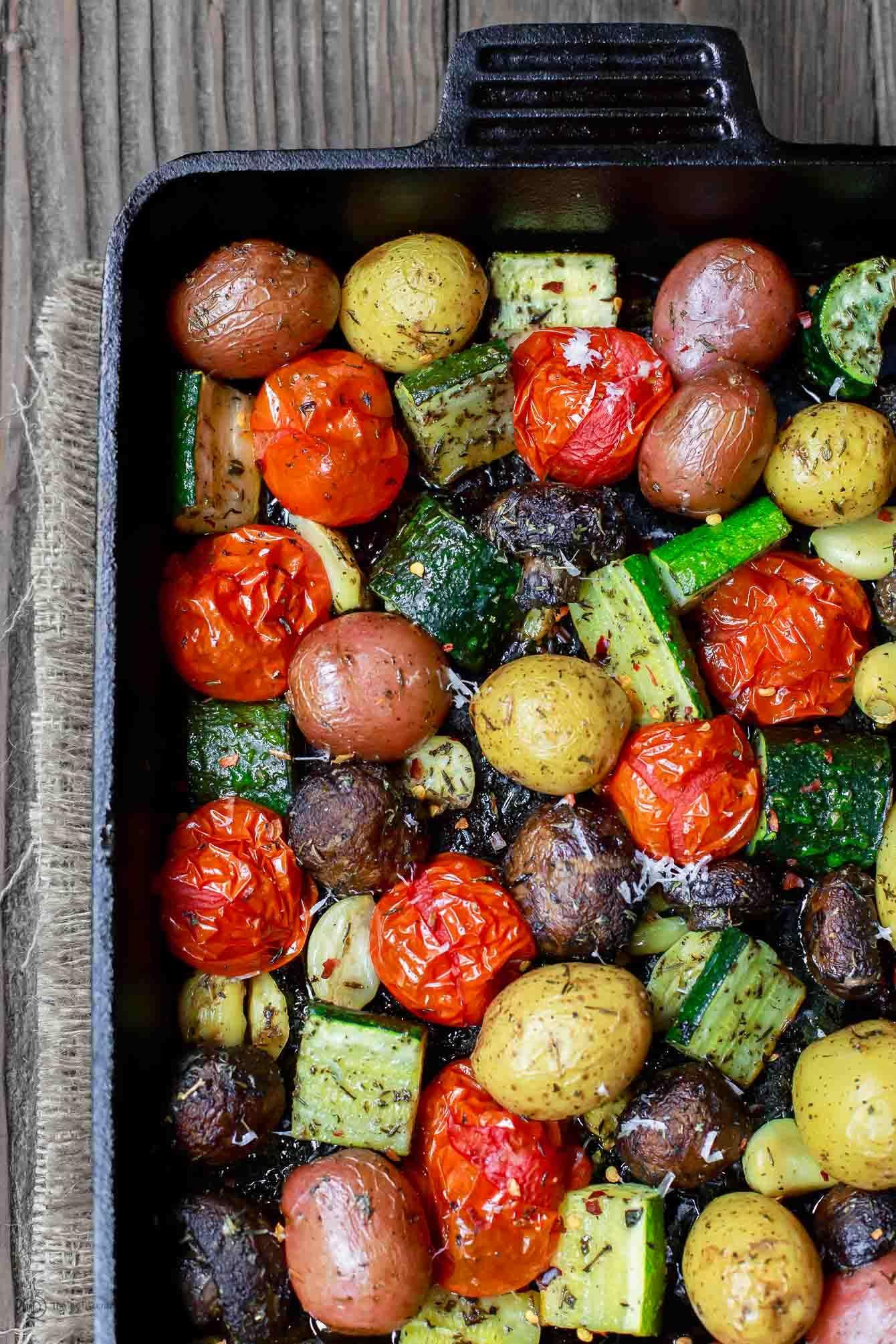 Italian oven roasted vegetables recette plats l gumes r tis l gumes r tis au four et l gumes - Recette legumes grilles au four ...