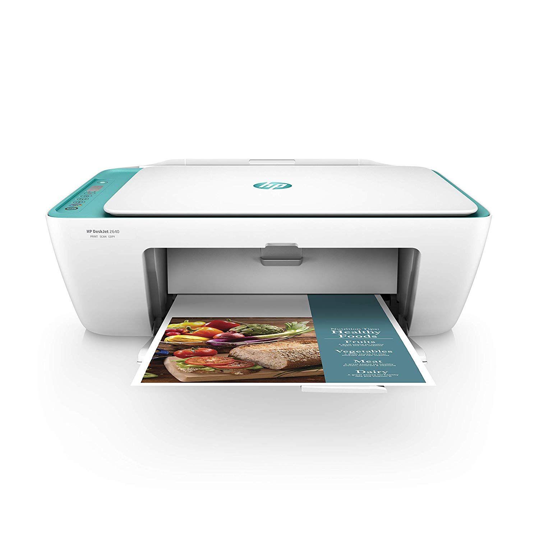 Hp Deskjet 2640 All In One Wireless Color Inkjet Printer Scanner Copier White Teal