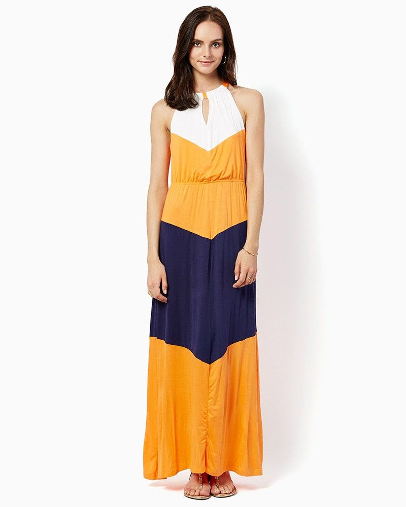 Charming charlie breezy colorblock maxi dress upc