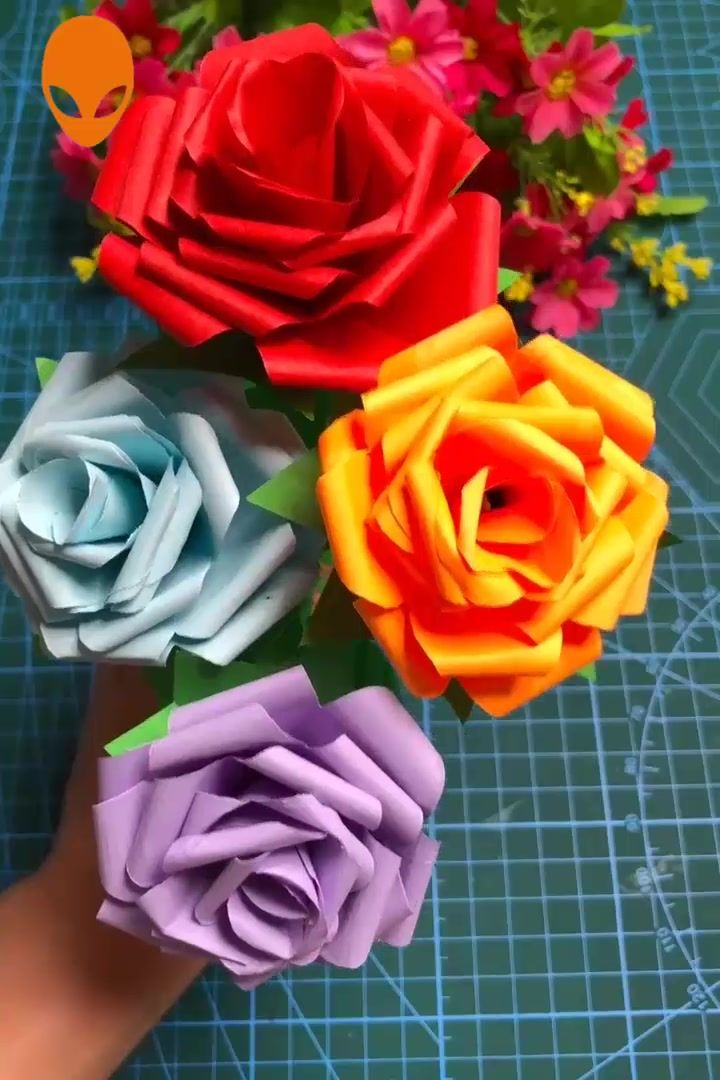 Useful Paper Crafts Art~ #easypaperflowers