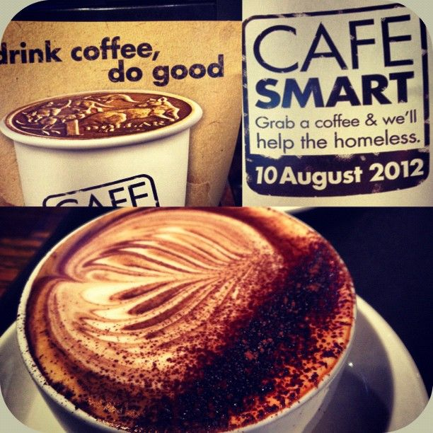 CAFE SMART is a fantastic yearly fundraiser. On Cafe Smart day $1 from every hot drink sold donated to charity to help out the homeless.  Please visit us on Cafe Smart Day or find your local supporting cafe and visit them!! For more info go to www.streetsmartaustralia.org/cafesmart