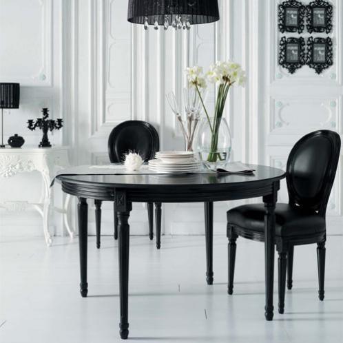 Silla Negra Louis Chaises Blanches Chaise Medaillon Deco Noir Et Blanc Style Classique
