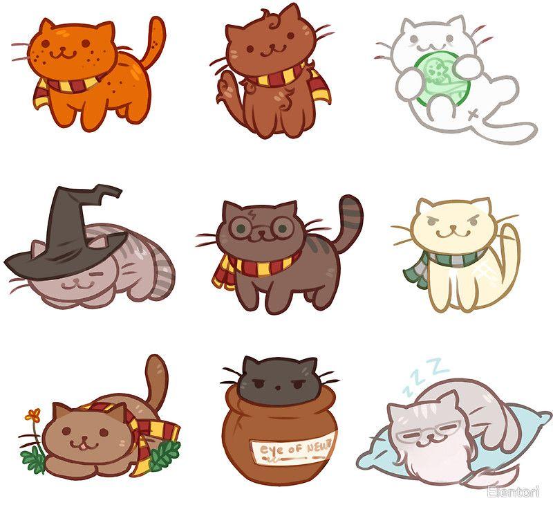 Hairy Pawtter Sticker By Elentori In 2021 Harry Potter Cat Cute Harry Potter Harry Potter Universal