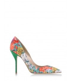 Paul Andrew Floral Pump - Mary Katrantzou teams up with Gianvito Rossi for a set of graphic floral footwear. http://shop.harpersbazaar.com/blog/whats-in-store-mary-katrantzou-gianvito-rossi