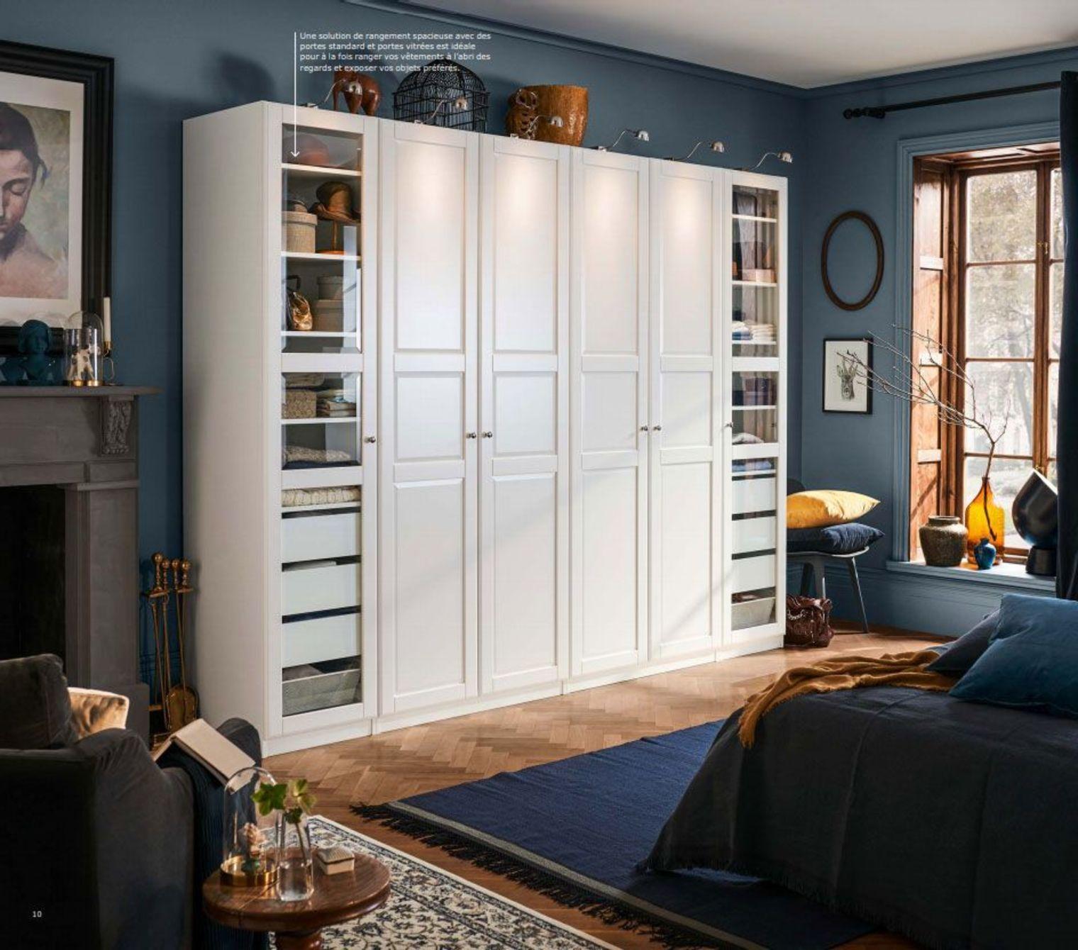 Catalogue Armoires Et Dressings Ikea 2019 Rangements Pratiques En 2020 Armoire Penderie Ikea Deco Interieure Chambre