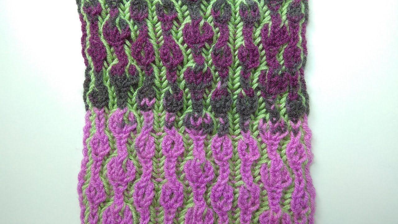 Bubblegum, two-color brioche stitch knitting pattern + free chart ...