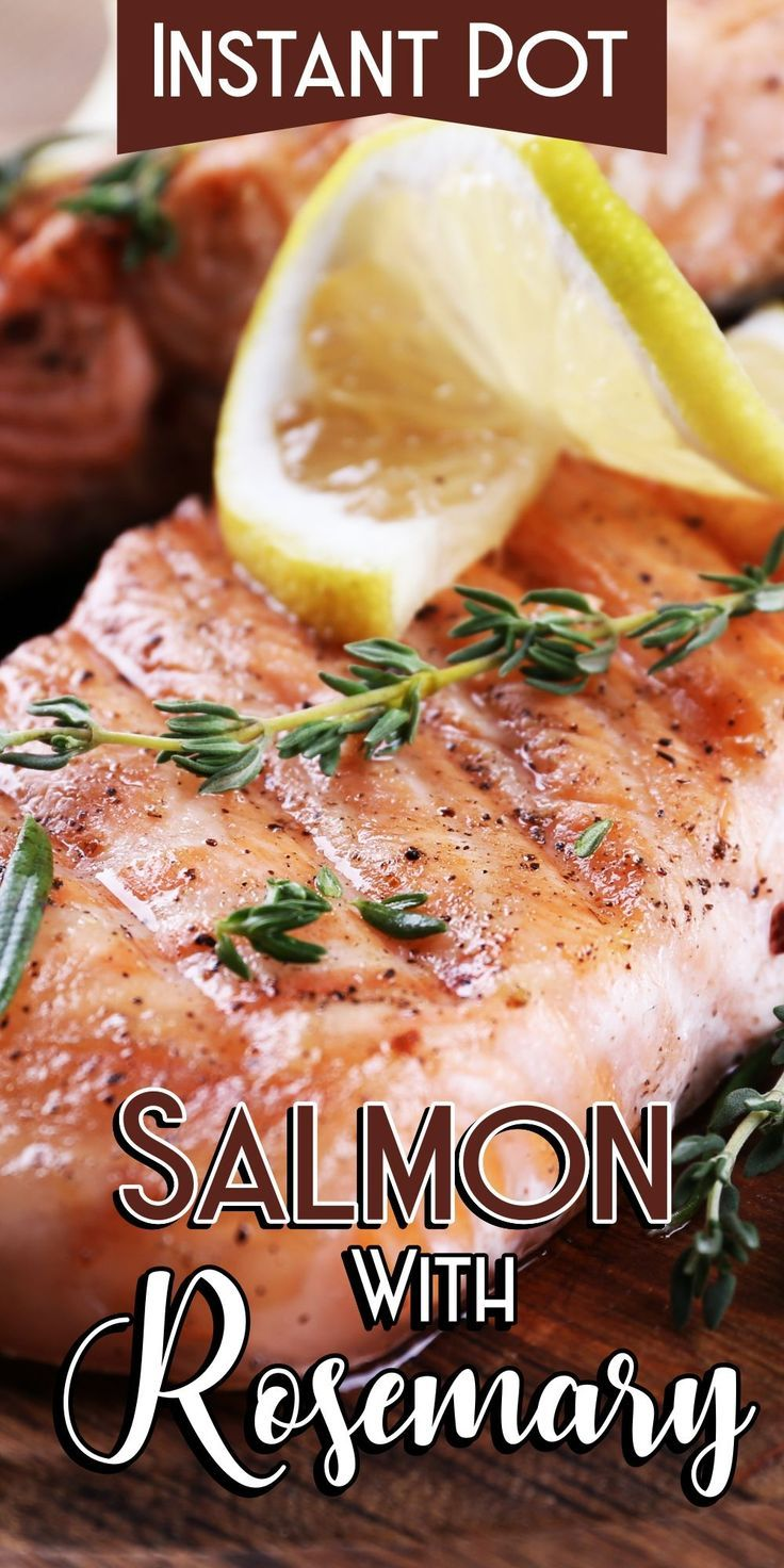 Instant Pot Salmon With Rosemary images
