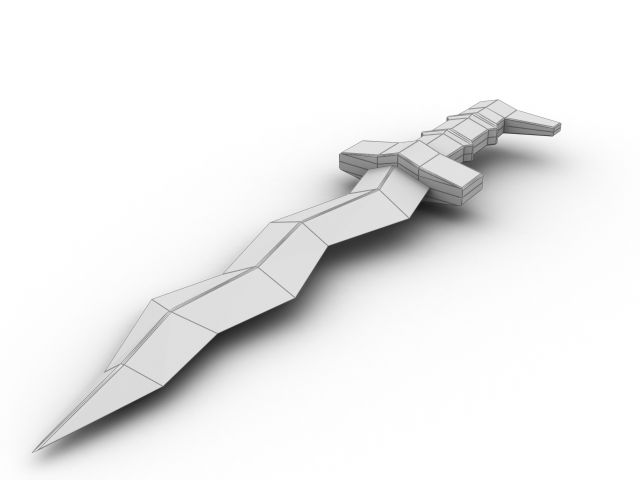 Sword, item. Looking at this is inspiration for how we could take items created from some of the larger worlds... 'pull them out', and render them separately as unique pieces.