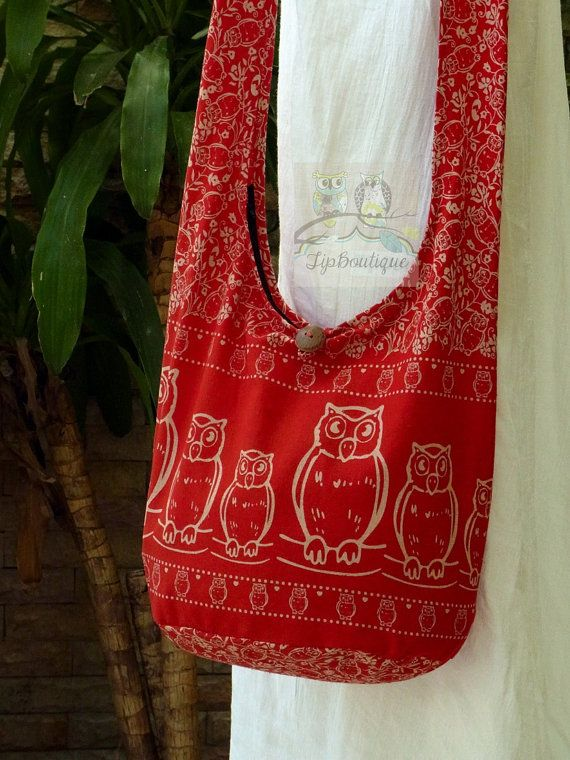 SMALL SIZE Owl Animal Bag Girl Purse Woman Hobo by TipBoutique