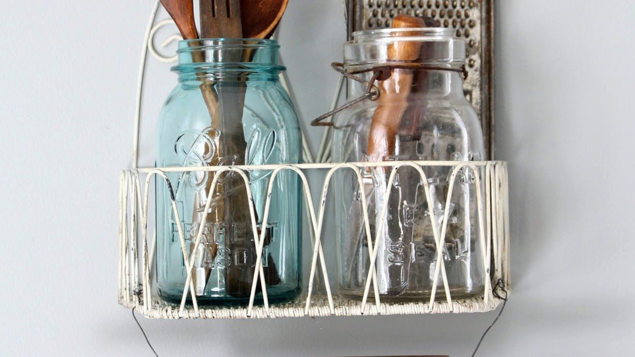 craft a fun upcycled kitchen gadget organizer diy home guidecentral watch video craft on kitchen organization gadgets id=51557