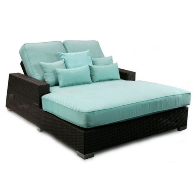 patio heaven signature double chaise outdoor chaise lounges at hayneedle outdoor chaise. Black Bedroom Furniture Sets. Home Design Ideas