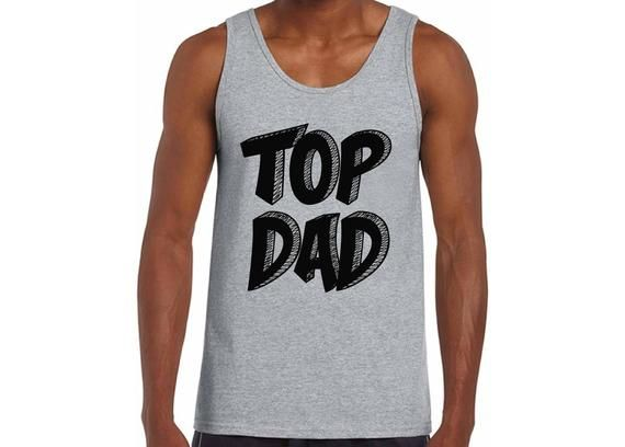 Top Dad Tank Tops Tank Top Daddy Fathers Day Gift Best Dad Superhero Gift for Him Birthday Gift #superherogifts