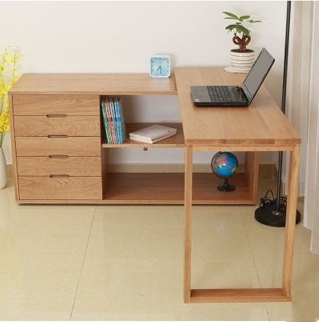 Japanese White Oak Solid Wood Furniture Stool Corner Desk Computer And A Variety Of Customized Table Refurbished Furniture Furniture Makeover Furniture Diy
