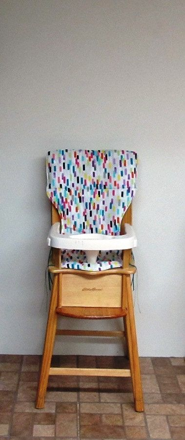 eddie bauer wooden high chair pad, baby accessory, feeding chair, baby child care, home decor, replacement cushion, chair pad, paint samples by SewingsillySister on Etsy