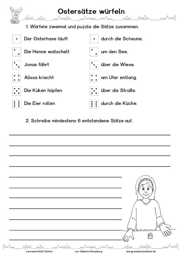 Ostersätze würfeln | OSTERN | Pinterest | Schule, Deutsch und Ostern