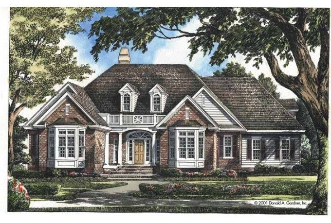 Colonial Style House Plan 4 Beds 2 Baths 2461 Sq Ft Plan 929 595 Colonial House Plans Country Style House Plans House Plans