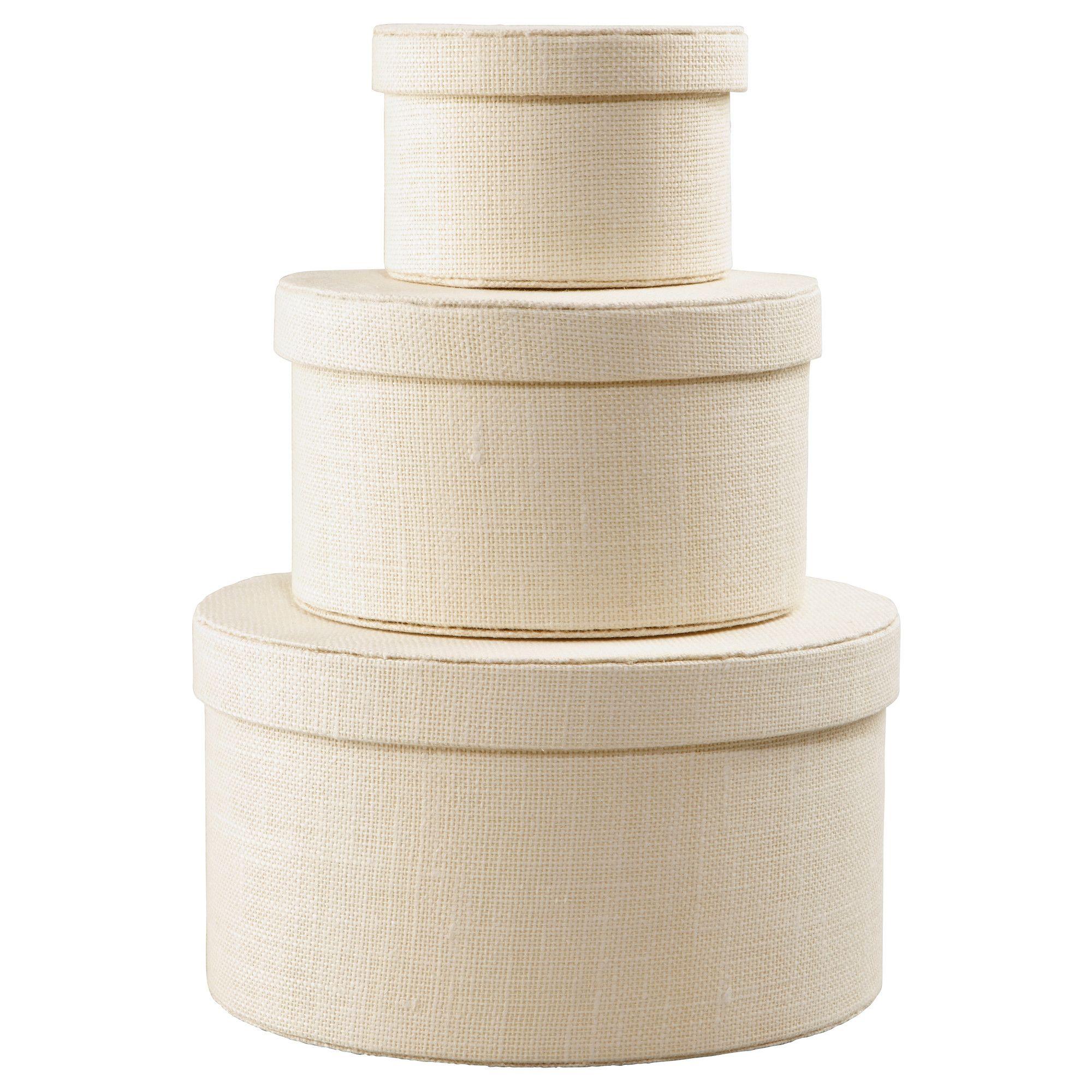 kvarnvik boîte, 3 pièces - blanc - ikea | interior design lover
