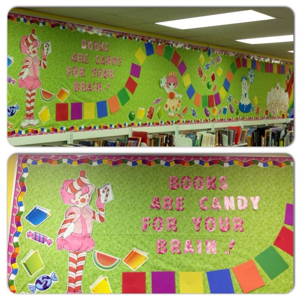 Library candyland candy land bulletin board could do a for Candyland bedroom ideas