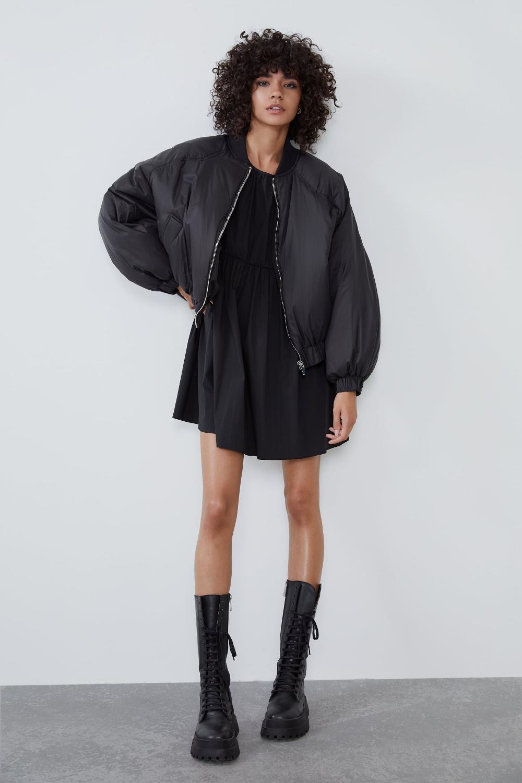 Oversized Puffer Bomber Bomber Jackets Jackets Woman Zara United States Womens Bomber Jacket Outfit Bomber Jacket Outfit Bomber Jacket Women [ 1500 x 1000 Pixel ]