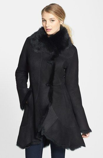HIDE SOCIETY Curved Front Genuine Toscana Shearling Coat available at #Nordstrom