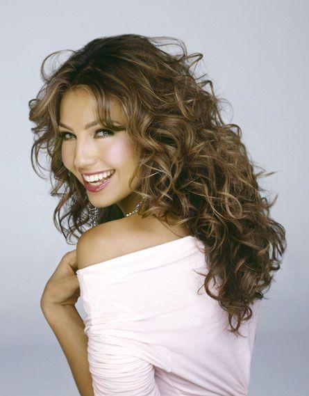 Thalia Mexican Actress Singer Artist Curly Hair Styles Hair Beauty