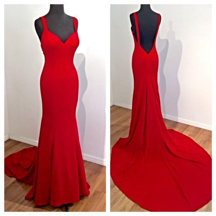 Cherie red formal gown cigarette holder - 2 1
