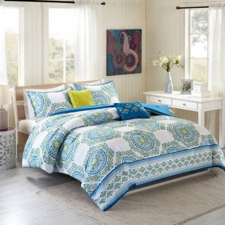 better homes and gardens floral medallion 5 piece comforter set rh pinterest com