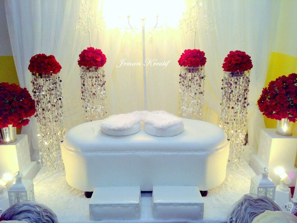 Wedding decoration ideas red and white  Red White and Bling Wedding Stage  Weddings Head Tables