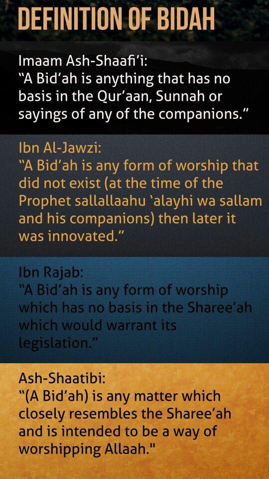 What is Bidah (Innovation) in Islam: