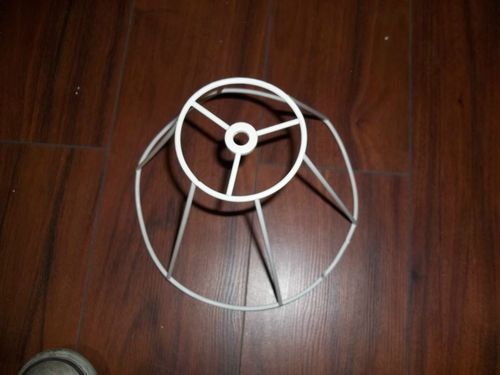 """Lamp Shade Wire Frame Lot of 2 - 7"""" high -- 9"""" across style """"C"""""""