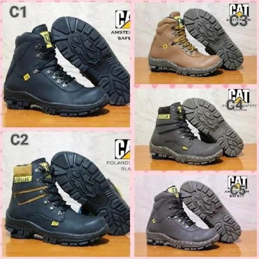 Sepatu Boots Kickers Safety Ujung Besi Tracking Adventure Touring