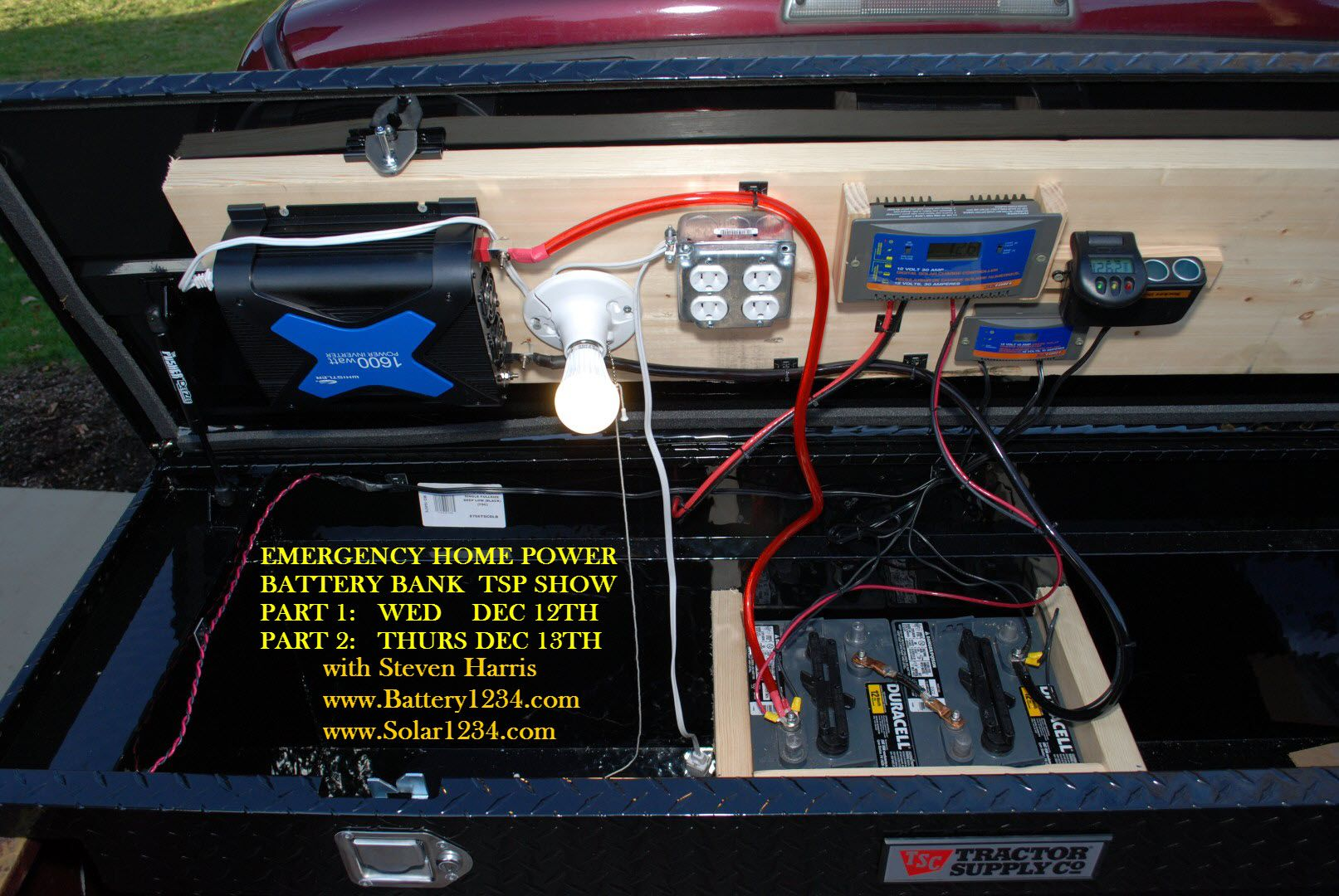 Diy Battery Bank Videos For Emergency Power Outages Battery Bank Emergency Survival