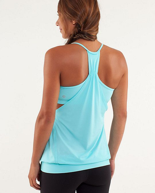 165a51c7a7 Lululemon No Limits Tank- I love this because it is a tank top with the sports  bra attached. The shirt part is lightweight and sweat-wicking.
