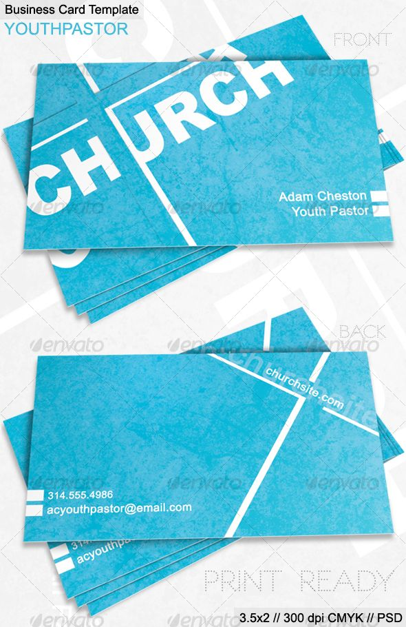 Church Business Card Youth Pastor352 Business Card Business Card