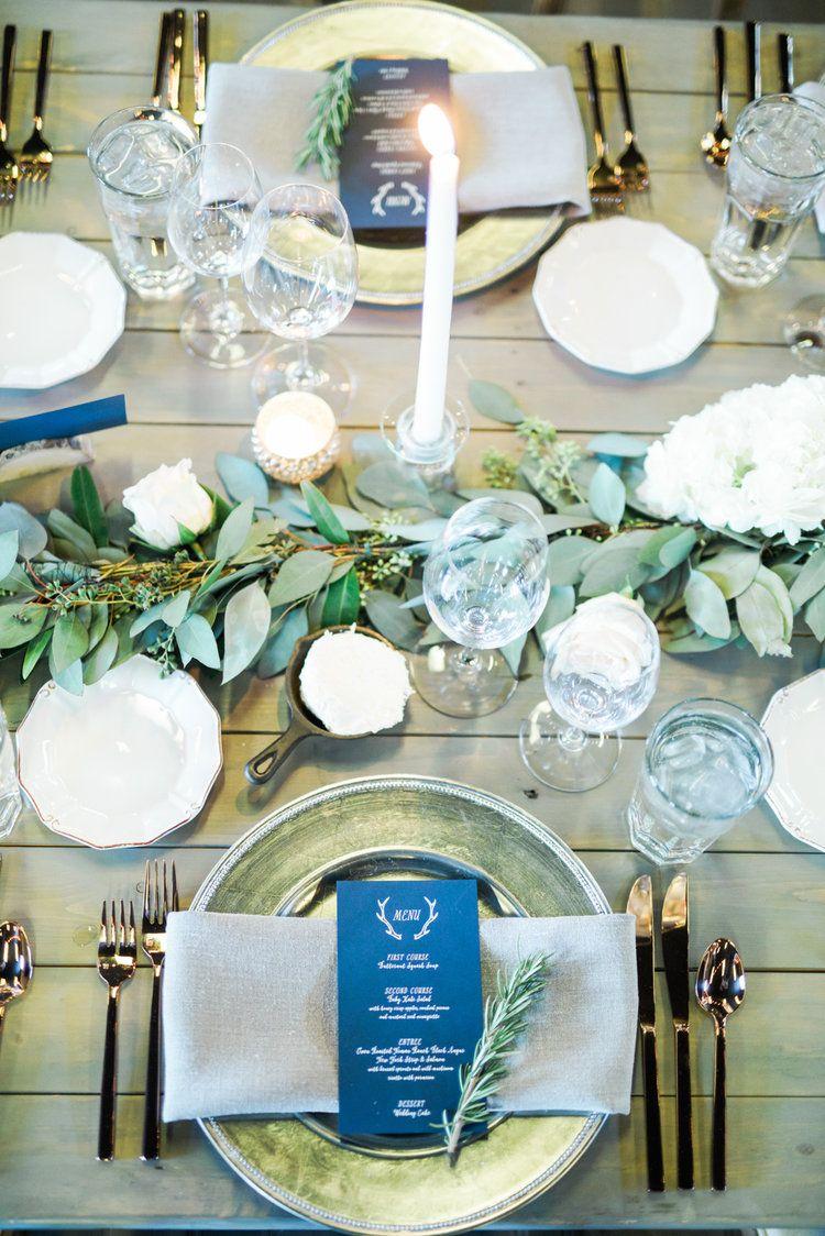 Jennifer Keegan S Blue Sky Ranch Winter Wedding Wedding Table