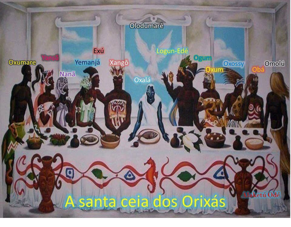 La santa cena de los Orichas