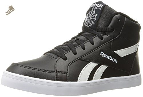 8470b6682f8a7 Reebok Women's Royal Kewtee ml Fashion Sneaker, Black/White, 7.5 M ...