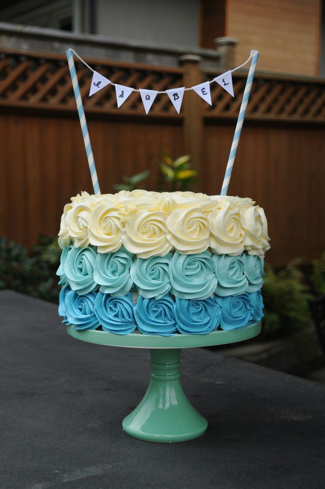 Ombr Rosette Birthday Cake Cakes By Lexi Pinterest Cake