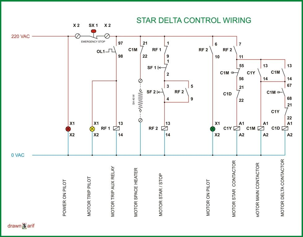 star delta wiring jpg (980×768) electrical control panel wiring, electrical diagram, electrical wiring diagram of star delta