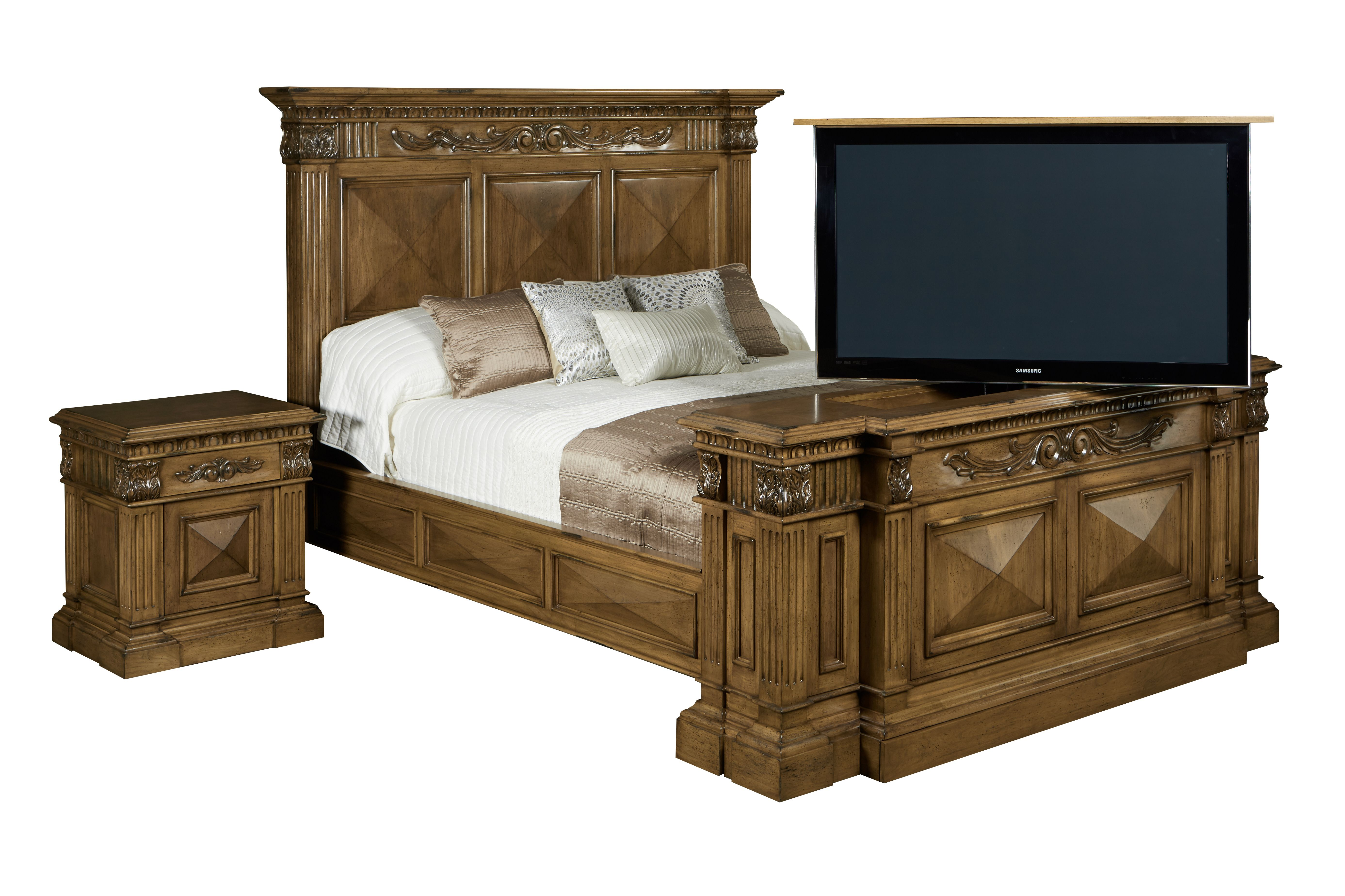 Best Belvedere Hand Carved Complete Bed Set With 360 Swivel 400 x 300