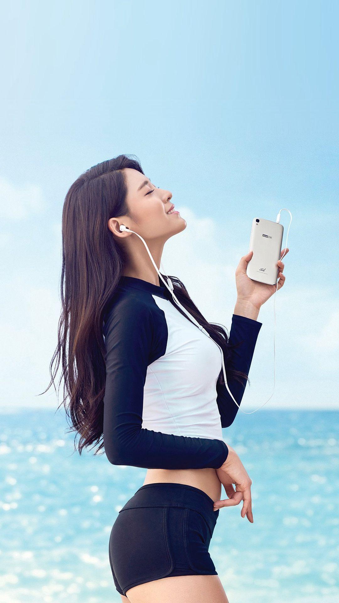 Seolhyun Aoa Kpop Sea Summer Cute iPhone 7 wallpaper