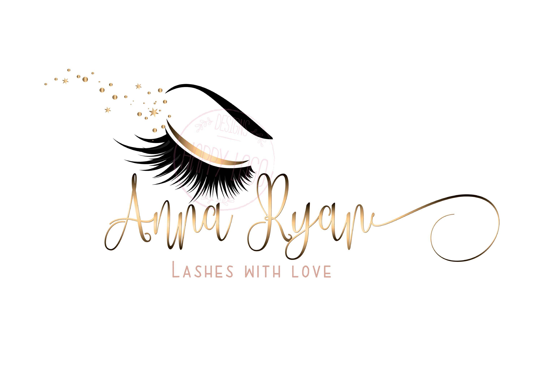 DIGITAL Custom logo design , lashes logo, lashes beauty
