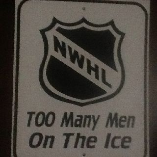 National Women's hockey league.. to many men on the ice... hilarious