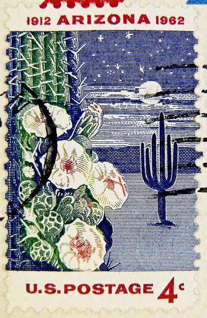 1dc4946fe08 USA Arizona 1912 1962 Arizona Statehood, Old Stamps, Vintage Stamps,  Postage Stamp Design