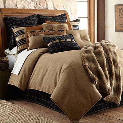 Lodge Elegance Ashbury Bear Bedding Sets Comforter Sets Bedding