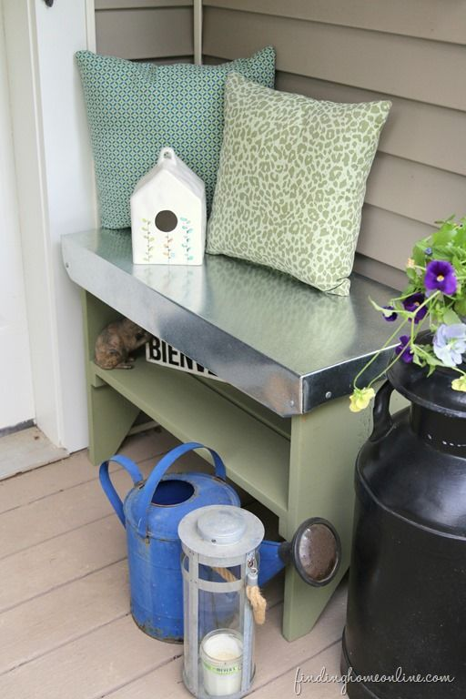 Galvanized Topped DIY Bench