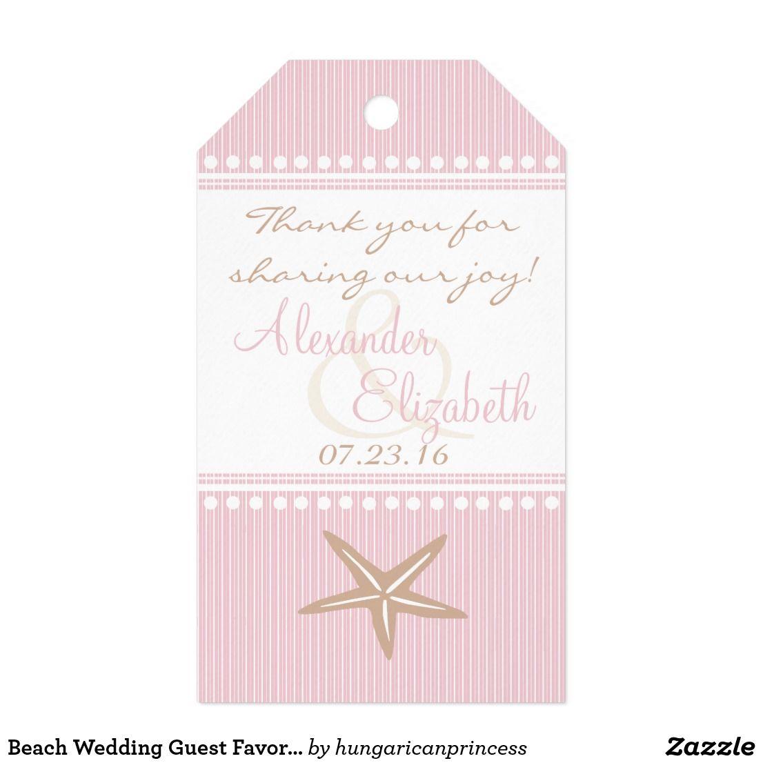 Beach Wedding Guest Favor Thank You- Starfish Gift Tags   Wedding ...