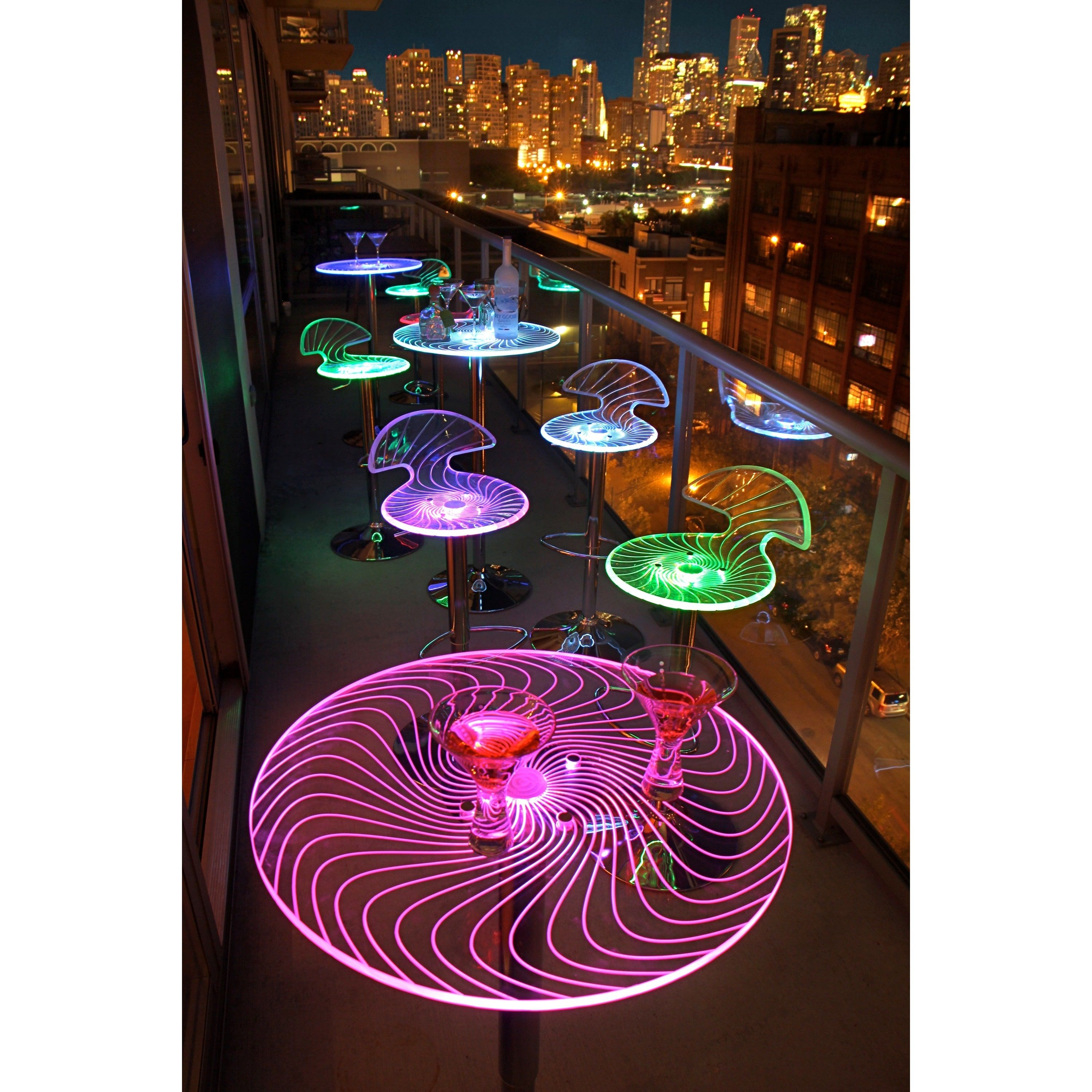 Lumisource spyra led light up bar table grey chrome bar tables spyra led light up bar table overstock shopping the best deals on bar tables aloadofball Gallery