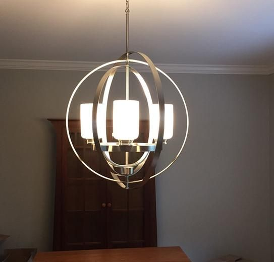 Home decorators collection 4 light brushed nickel chandelier